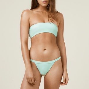 Anna swimwear mint colour simina set.